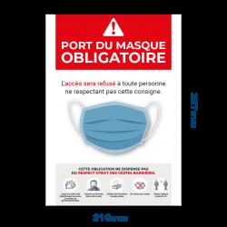 Adhésif Port du masque...